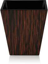 Pacific Connections Macassar Ebony Wastebasket-BROWN