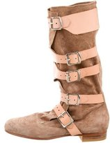 Vivienne Westwood Buckle-Accented Suede Boots