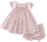 Luli & Me Floral-Print Smock Dress w/ Bloomers, Size Newborn-9M