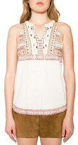 Willow & Clay Women's Embroidered Sleeveless Top