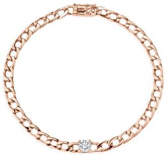 Anita Ko Diamond 18K Rose Gold Plain Chain Bracelet