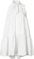 Lisa Marie Fernandez polka dot bow babydoll dress - women - Cotton - 2