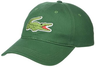 Lacoste Big Croc Twill Leatherstrap Cap (Purpy) Baseball Caps