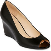 Liz Claiborne Paula Peep-Toe Wedge Pumps