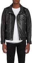 John Elliott Men's Grained Leather Moto Jacket