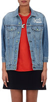 "Sandrine Rose Women's ""Trouble Maker"" Cotton Denim Jacket-BLUE"