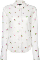 Isabel Marant floral embroidered shirt - women - Ramie/Viscose - 40