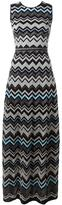 M Missoni zig-zag pattern long dress - women - Cotton/Polyamide/Polyester/Metallic Fibre - 44