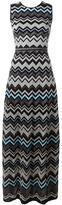M Missoni zig-zag pattern long dress - women - Cotton/Polyamide/Polyester/Metallic Fibre - 46