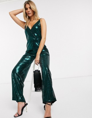 Ivyrevel sequin jumpsuit in dark green
