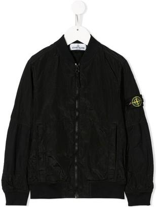 Stone Island Junior Logo Patch Bomber Jacket