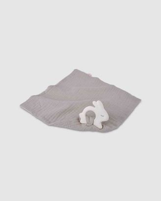 Kikadu - Grey Preschool & Toddler - Rabbit Rubber Toy with Silver Grey Towel - Size One Size at The Iconic