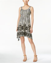 Style&Co. Style & Co. Petite Sleeveless Printed Handkerchief-Hem Dress, Only at Macy's