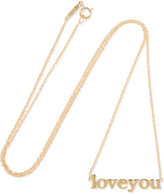 Jennifer Meyer Love You 18-karat Gold Necklace - one size