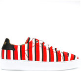 MSGM striped sneakers - men - Cotton/Leather/rubber - 40