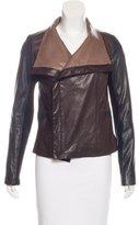 Vince Draped Leather Jacket