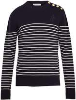 J.W.Anderson Button-detail striped wool sweater
