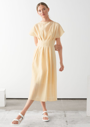 And other stories Gathered Waistline Midi Dress