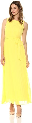 Sharagano Women's Pleated Maxi Dress