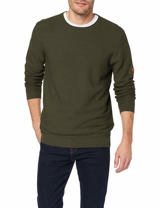Camel Active Men's Crew Neck GMT Dyed Jumper