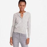 J.Crew Clip-dot cotton Jackie cardigan sweater
