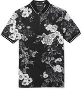 Dolce & Gabbana Slim-Fit Floral-Print Cotton-Piqué Polo Shirt