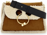 J.W.Anderson Pierce suede and shearling shoulder bag
