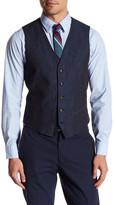 Bonobos Foundation Navy Striped Five Button Vest
