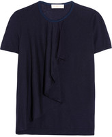 Tory Burch Tabia ruffled silk and cashmere-blend sweater