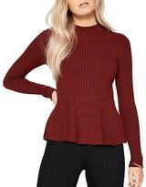 Miss Selfridge Godot Long Sleeve Peplum Knit Top