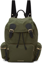 Burberry Green Nylon Rucksack
