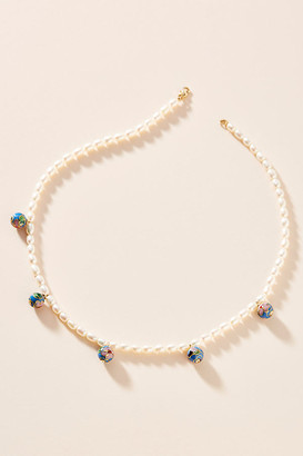 NST Studio Rice Pearl Necklace By NST Studio in Blue Size ALL