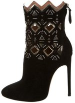 Alaia Embellished Laser Cut Ankle Boots w/ Tags