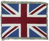 Mill Street UK Uniteddom Union Jack British Flag Cotton Throw Blanket