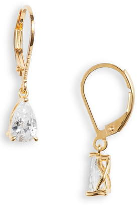 Nordstrom Pear Cut Cubic Zirconia Drop Earrings