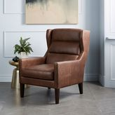 west elm Clarke Leather Wing Chair