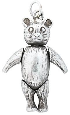 Stephanie Windsor Victorian Silver Articulated Teddy Bear Charm