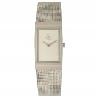 Ingersoll Obaku by ladies silver dial stainless steel mesh bracelet watch