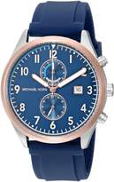 Michael Kors Men's Quartz Stainless Steel and Silicone Casual Watch, Color: (Model: MK8573)