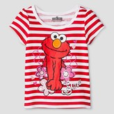 Sesame Street Toddler Girls' Elmo Short Sleeve T-Shirt - White