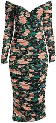 Rachel Zoe Louanne Off-The-Shoulder Ruched Floral Dress