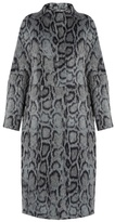 Elizabeth and James Balin leopard-print faux-fur coat