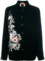 No.21 floral embroidery shirt