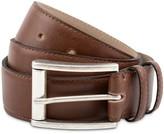 Handmade Vegan Leather Belt In Brown