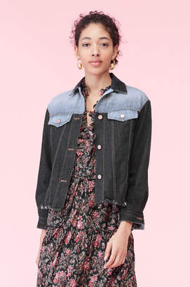 Rebecca Taylor La Vie Denim Patch Jacket