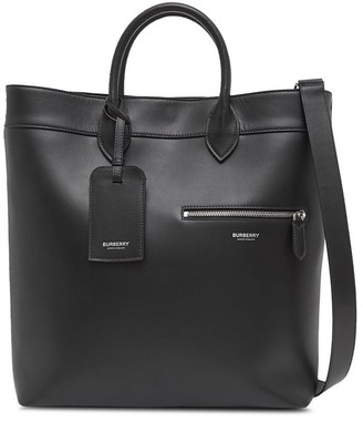 Burberry structured logo tote