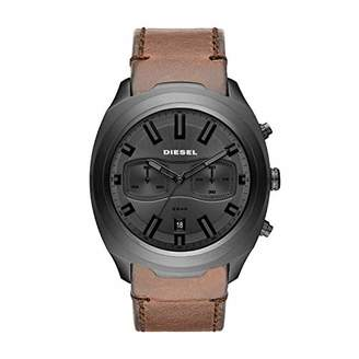 Diesel Men's Tumbler Stainless Steel Analog-Quartz Watch with Leather Strap