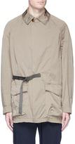 Kolor Half belt twill coat