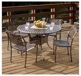Christopher Knight Home Sebastian 5pc Cast Aluminum Outdoor Dining Set - Dark Copper