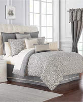 Waterford Charlize Reversible 3-Pc. Gray Queen Comforter Set Bedding
